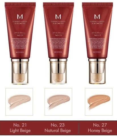 MISSHA-M-Perfect-Cover-B-B-Cream-Farbpalette