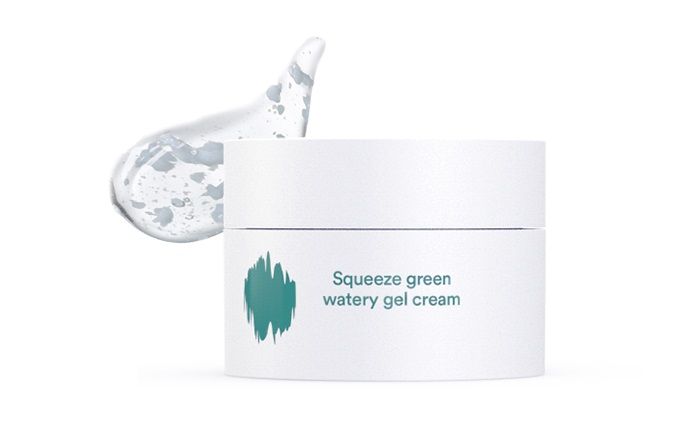 Squeeze-Green-Watery-Gel-Cream-Textur